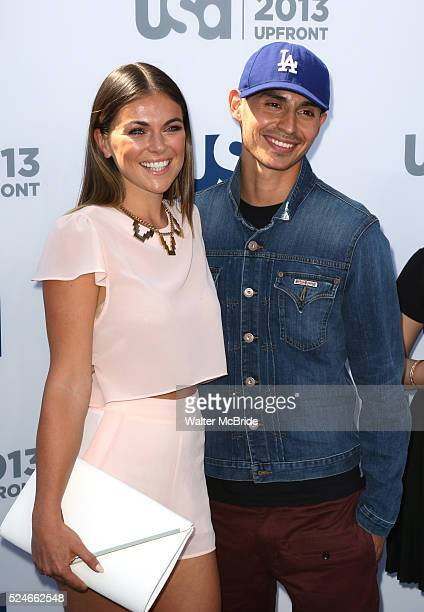 Serinda Swan Manny Montana attending the USA Network 2013 Upfront Event at Pier 36 Basketball City in New York City on May 16 2013