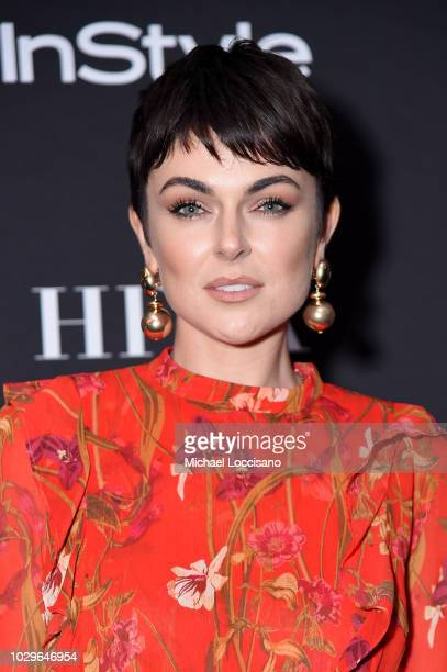 Serinda Swan purse detail attends The Hollywood Foreign Press Association and InStyle Party during 2018 Toronto International Film Festival at Four...