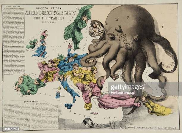 SerioComic War Map For The Year 1877 1877 Found in the collection of State History Museum Moscow