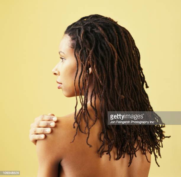 Serious African American woman