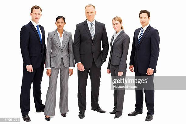 serious businesspeople - isolated - five people stock pictures, royalty-free photos & images