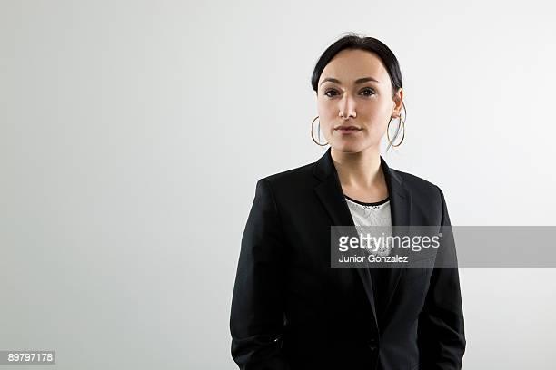 A serious businesswoman, portrait