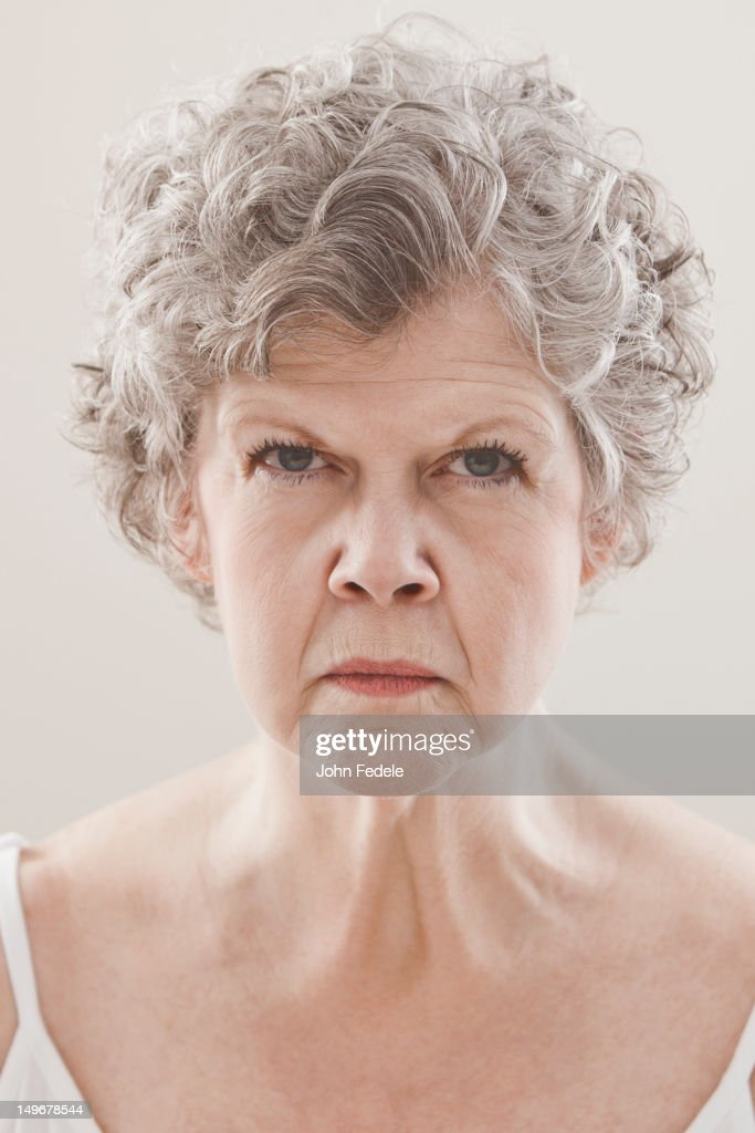 Serious Caucasian woman : Foto de stock