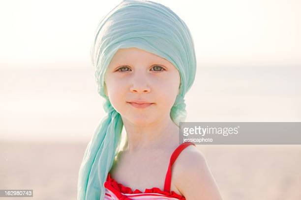 Serious Chemo Girl At The Beach