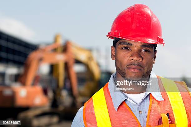 Serious Construction Worker