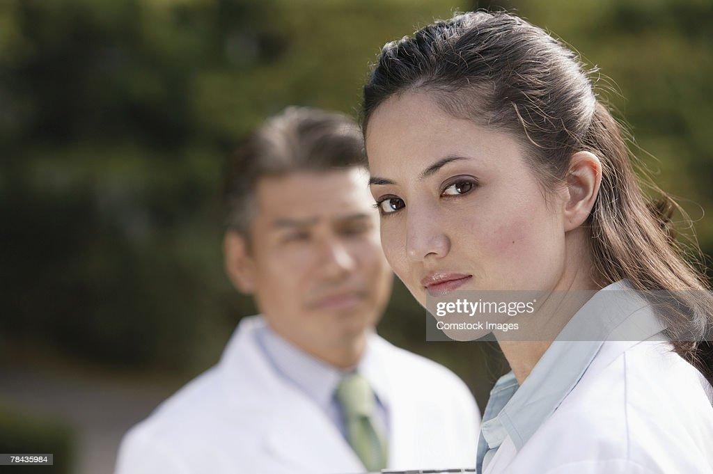 Serious doctor : Stockfoto