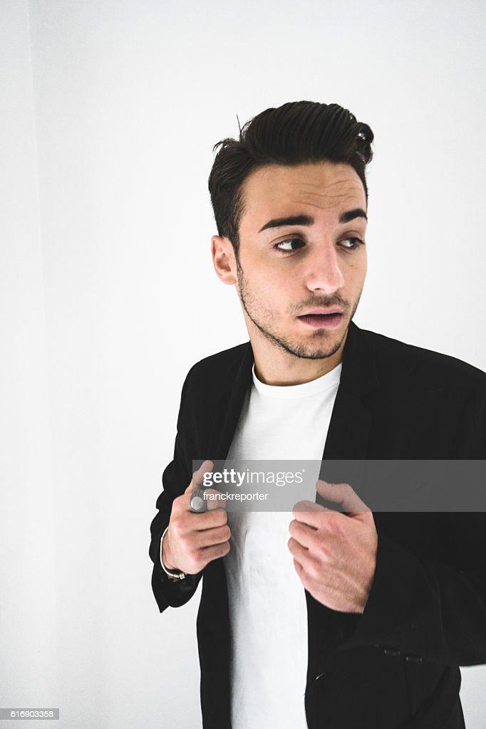 Serious fashion man portrait : Stock Photo