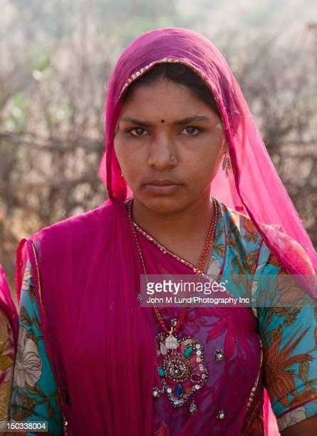 Serious Indian woman
