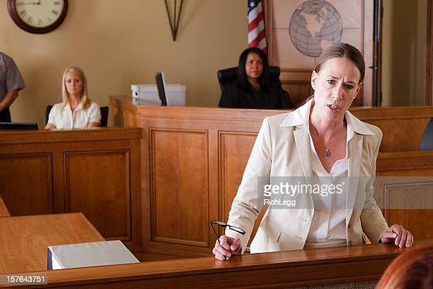 serious lawyer in court - juror law stock pictures, royalty-free photos & images