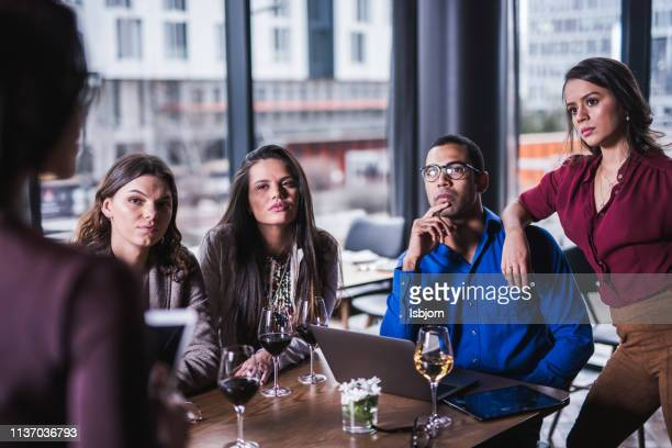 serious look at manager. - businesswear stock pictures, royalty-free photos & images
