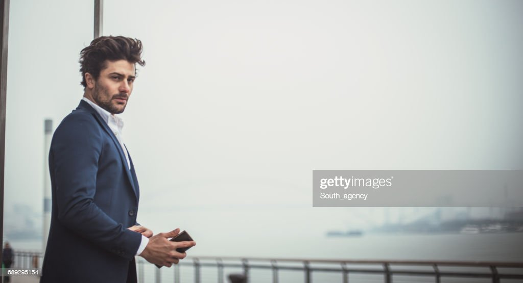 Serious looking man : Stock Photo