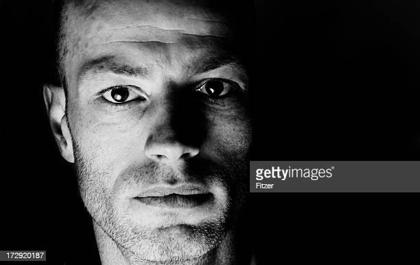 Ernste Mann in the dark