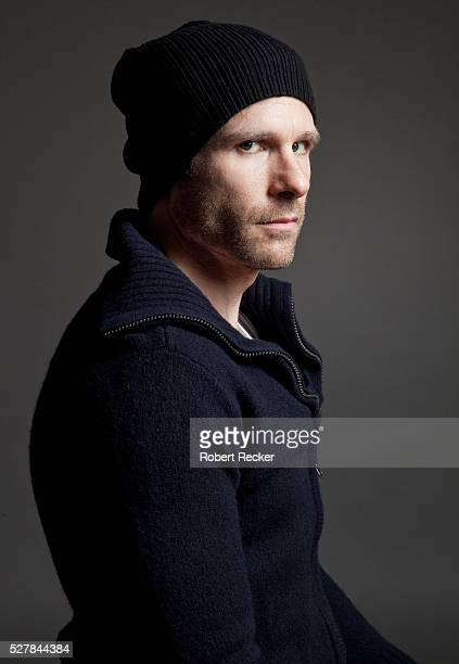Serious mid-adult man with beanie