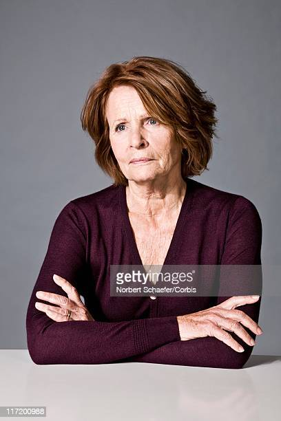 Serious middle aged woman