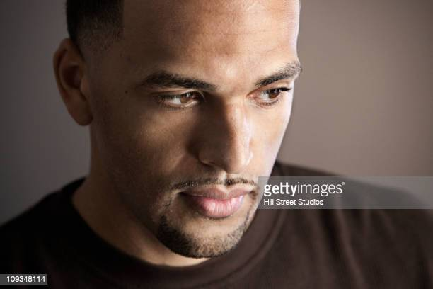serious mixed race man with goatee - goatee stock pictures, royalty-free photos & images