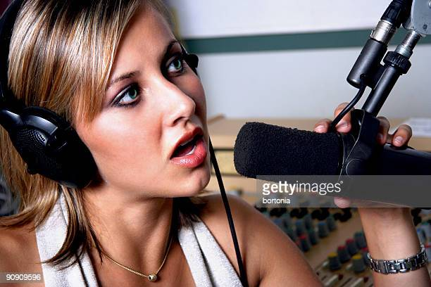 serious news - global radio studios stock photos and pictures