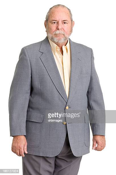 serious senior man in suit - gray blazer stock pictures, royalty-free photos & images