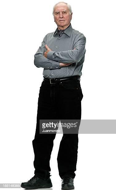 sérieux homme senior (real personnes) - 65 69 ans photos et images de collection