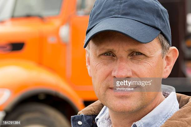 serious trucker - trucker's hat stock pictures, royalty-free photos & images