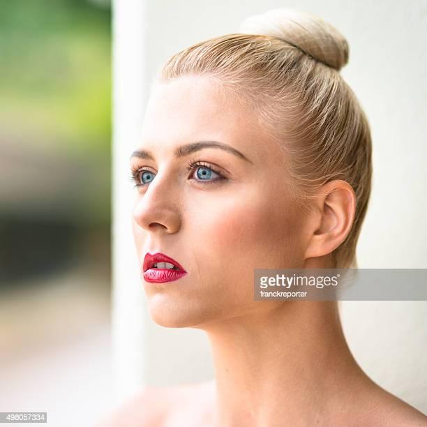 serious woman beauty portrait