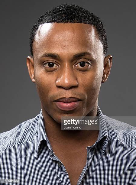 Serious young afrocaribbean man