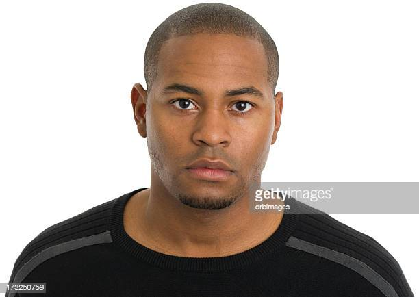 Serious Young Man Headshot Portrait