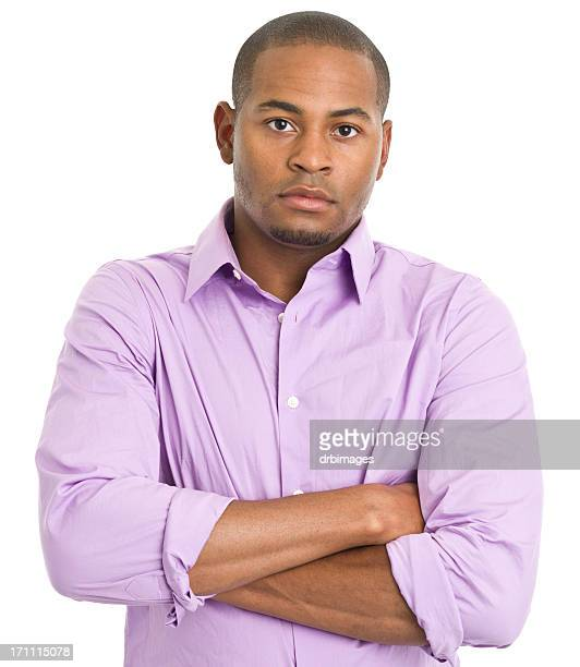Serious Young Man With Arms Crossed