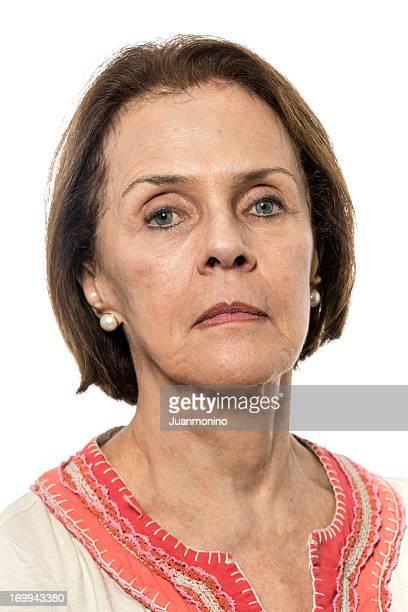 SeriousSenior woman