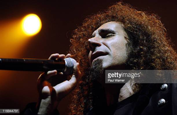 Serj Tankian of System of a Down during System of a Down in Concert at Allstate Arena in Rosemont September 30 2005 at Allstate Arena in Rosemont...