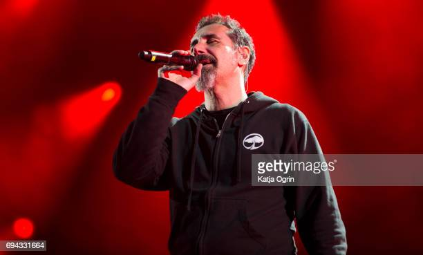 Serj Tankian of System of a Down performing live on Day 1 of Download Festival at Donington Park on June 9 2017 in Castle Donington UK