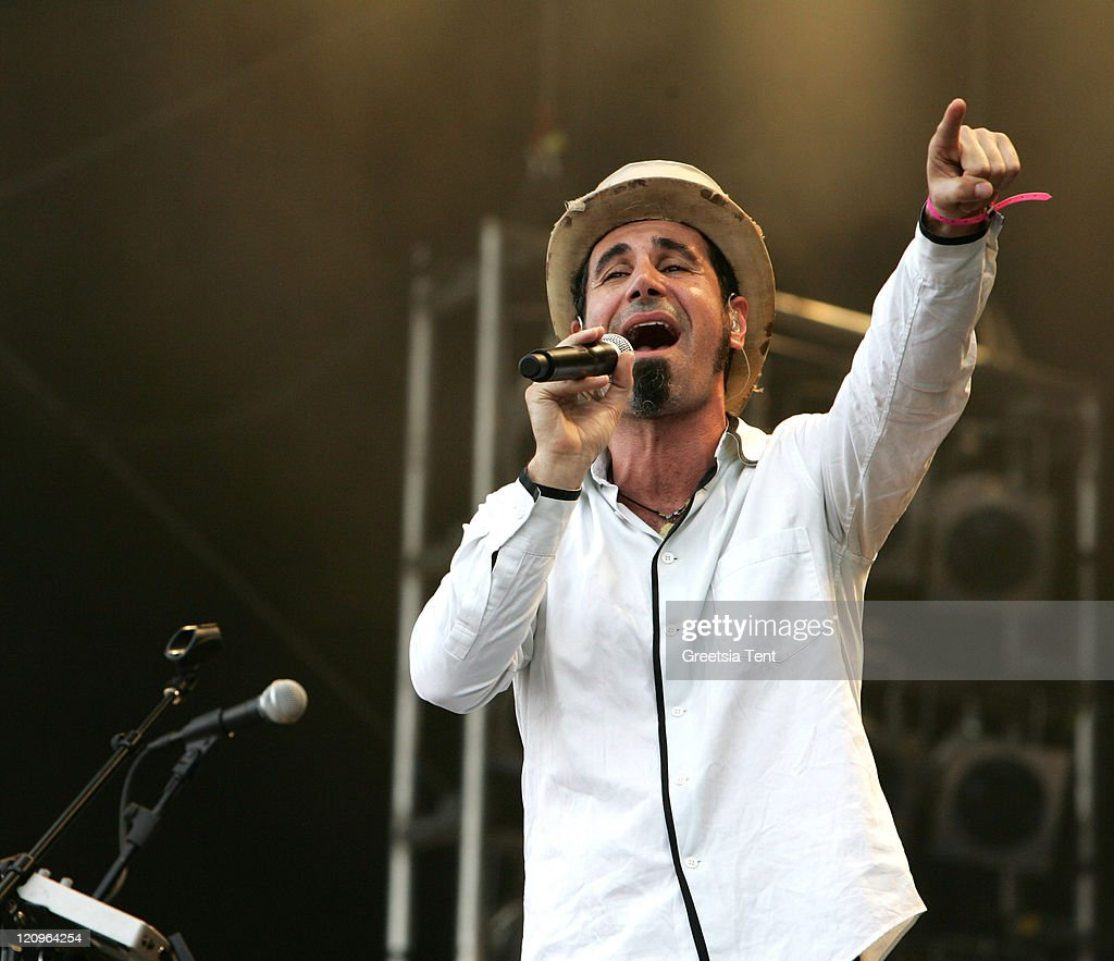 Serj Tankian (singer from the band System of a Down) performs live on day 3 of the 39th Pinkpop Festival on June 1, 2008 in Landgraaf, Netherlands.