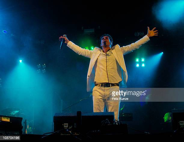 Serj Tankian performs live on day two of the Reading Festival at Richfield Avenue on August 28 2010 in Reading England