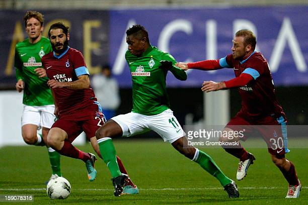 Serkan Balci of Trabzonspor and Eljero Elia of Bremen battle for the ball during a friendly match between Werder Bremen and Trabzonspor at day three...