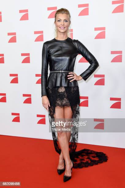 Serlina Hohmann GNTM Top 8 finalists attends the premiere of the television show 'This Is Us Das ist Leben' at Zoo Palast on May 11 2017 in Berlin...