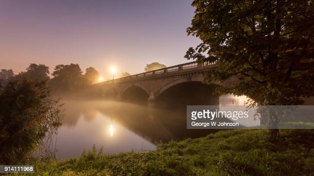 serpentine bridge - hyde park london stock photos and pictures