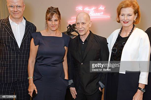 Serpentine Gallery CoDirector HansUlrich Obrist Tracey Emin Adrian Joffe and Serpentine Gallery CoDirector Julia PeytonJones attend the launch of...