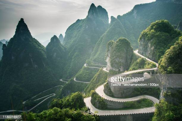 Serpentine Road At Tianmen