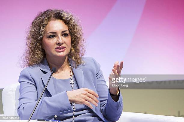 Serra Akcaoglu chief executive officer of Citigroup Turkey speaks on a panel during the BloombergHT investor conference in Istanbul Turkey on Friday...
