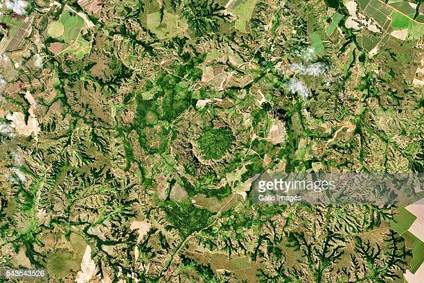 Serra da Cangalha crater located northeast of Palmas in the State of Tocantins Brazil South America on May 18 2016
