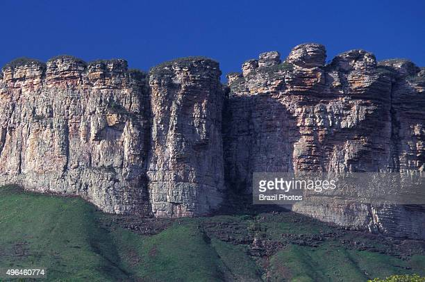 Serra dos Brejoes at Chapada Diamantina in Bahia State Brazil Chapada Diamantina is an erosional landform a natural feature of the earth's surface...