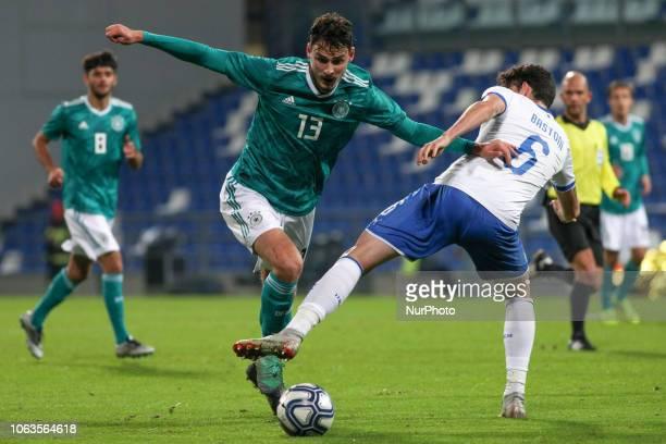 Serra Janni and Bastoni Alessandro during the friendly match between Italy U21 and Germany U21 at Mapei Stadium on November 19 2018 in Reggio Emilia...