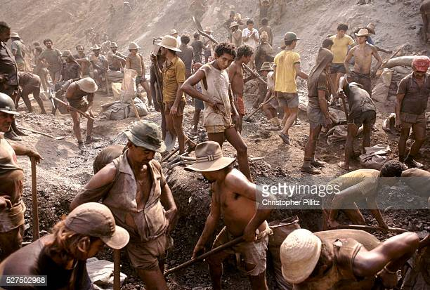 Serra Pelada gold mine Where thousands of workers are seen prospecting for gold in an open pit mine which became synonymous with Brazil's gold rush...