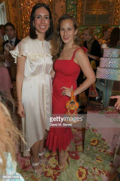 Serra Tucker and Charlotte Dellal attend the Mrs Alice x Misela launch event at Annabel's on July 3 2018 in London England
