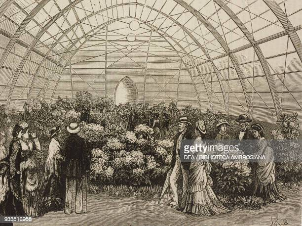 Serra with English rhododendrons the American Centennial Exhibition Fairmount Park Philadelphia United States of America illustration from the...