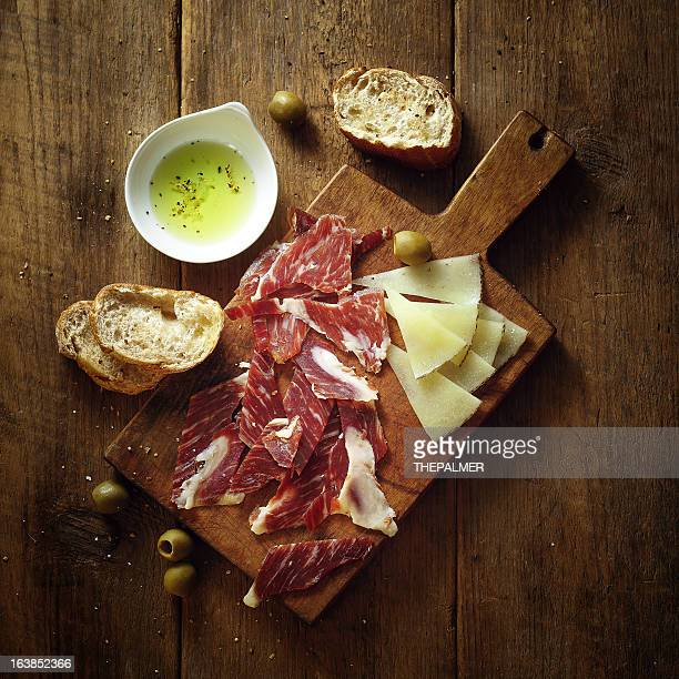 serrano ham and tapas - iberian stock photos and pictures