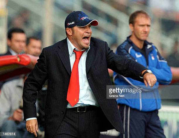 Serse Cosmi, coach of Perugia, watches the action during the Serie A match between Parma and Perugia, played at the Ennio Tardini Stadium, Parma on...
