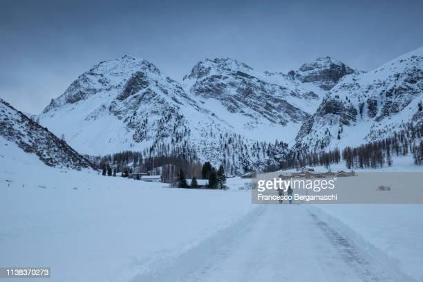 Sertig valley in winter. Sertig Dorfli, Davos, Albula Valley, Canton of Grisons, Switzerland, Europe.