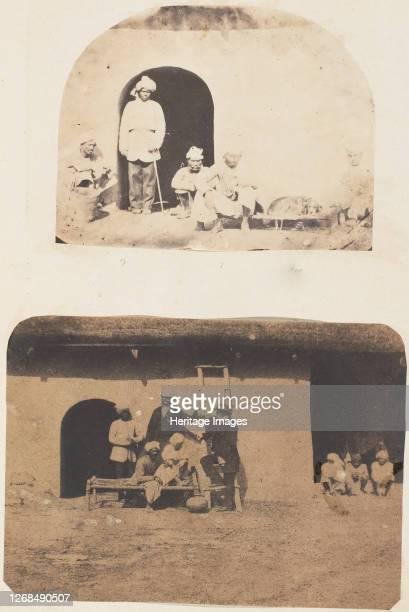 Servants and Dog 1850s Artist Unknown
