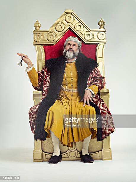 servants! come hither - king royal person stock photos and pictures