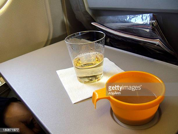 Served beverages during a national flight .